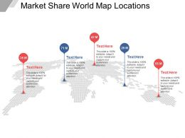 Market Share World Map Locations