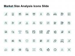 Market Size Analysis Icons Slide Ppt Powerpoint Presentation File Gridlines