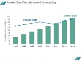 Market Size Calculation And Forecasting Powerpoint Slide Design Ideas