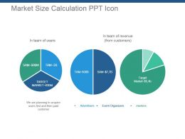 Market Size Calculation Ppt Icon