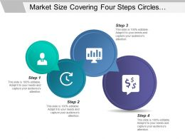 Market Size Covering Four Steps Circles Small To Large