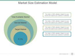 Market Size Estimation Model Powerpoint Slide Graphics