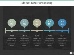 Market Size Forecasting Powerpoint Slide Ideas