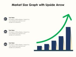 Market Size Graph With Upside Arrow