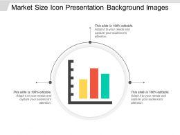 Market Size Icon Presentation Background Images