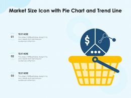 Market Size Icon With Pie Chart And Trend Line