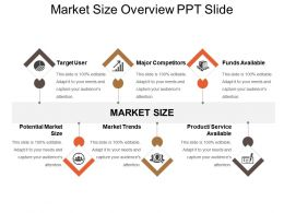 Market Size Overview Ppt Slide