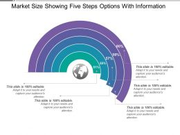 Market Size Showing Five Steps Options With Information