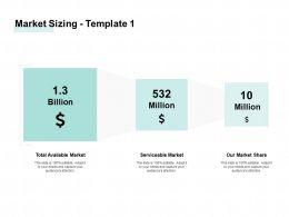 Market Sizing Billion Million Ppt Powerpoint Presentation Portfolio Gallery