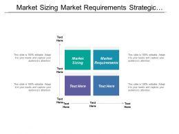 Market Sizing Market Requirements Strategic Activities Marketing Survey