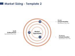 Market Sizing Sample Headline Ppt Powerpoint Presentation Slides Background
