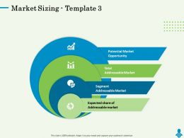 Market Sizing Template Expected Share Ppt Powerpoint Presentation Graph Charts