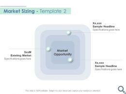 Market Sizing Template Opportunity Ppt Powerpoint Presentation Visual Aids Portfolio