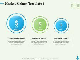 Market Sizing Template Serviceable Powerpoint Presentation Format Ideas