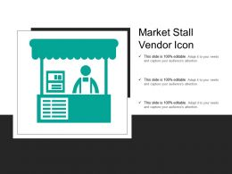 Market Stall Vendor Icon