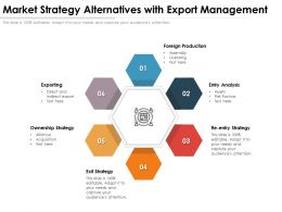 Market Strategy Alternatives With Export Management