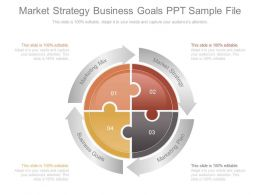 market strategy business goals ppt sample file