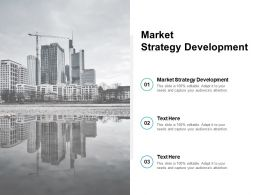 Market Strategy Development Ppt Powerpoint Presentation Inspiration Cpb
