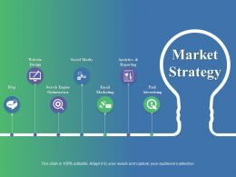 Market Strategy Ppt Gallery Infographic Template