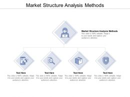 Market Structure Analysis Methods Ppt Powerpoint Presentation Pictures Templates Cpb