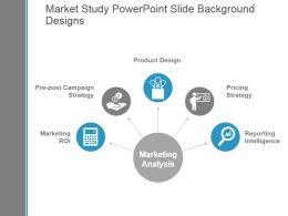 Market Study Powerpoint Slide Background Designs
