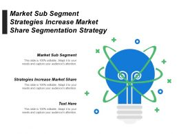 Market Sub Segment Strategies Increase Market Share Segmentation Strategy