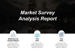 Market Survey Analysis Report Ppt Powerpoint Presentation Pictures Themes Cpb