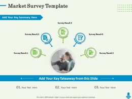 Market Survey Template Key Summary Powerpoint Presentation Portrait