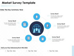Market Survey Template Key Summary Ppt Powerpoint Presentation Microsoft