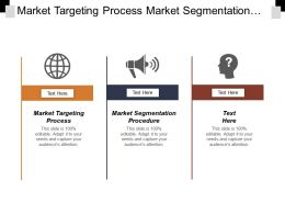 Market Targeting Process Market Segmentation Procedure Onboarding Program