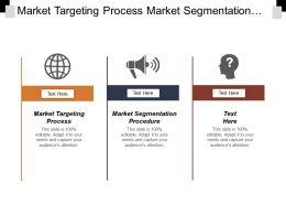 Market Targeting Process Market Segmentation Procedure Onboarding Program
