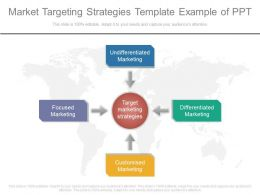 Market Targeting Strategies Template Example Of Ppt