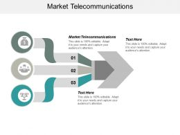 Market Telecommunications Ppt Powerpoint Presentation Gallery Infographic Template Cpb