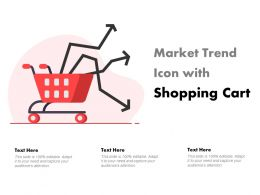 Market Trend Icon With Shopping Cart