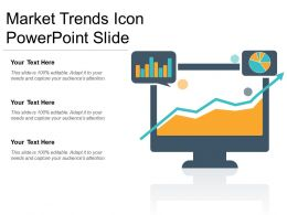 Market Trends Icon Powerpoint Slide
