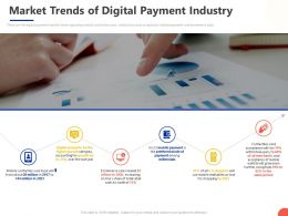 Market Trends Of Digital Payment Industry Ppt Powerpoint Presentation Diagram Graph Charts