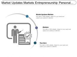 Market Updates Markets Entrepreneurship Personal Products Analysis Cpb