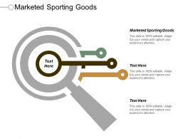 Marketed Sporting Goods Ppt Powerpoint Presentation Icon Layouts Cpb