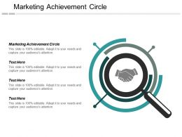 Marketing Achievement Circle Ppt Powerpoint Presentation Inspiration Brochure Cpb