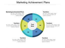 Marketing Achievement Plans Ppt Powerpoint Presentation Slides Background Images Cpb
