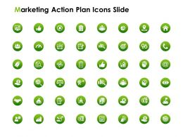 Marketing Action Plan Icons Slide Ppt Powerpoint Presentation Gallery File Formats