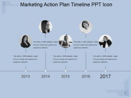 Marketing Action Plan Timeline Ppt Icon