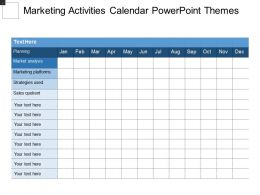 Marketing Activities Calendar Powerpoint Themes