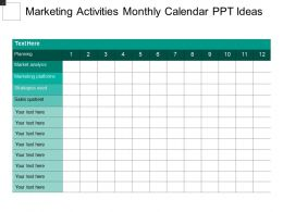 Marketing Activities Monthly Calendar Ppt Ideas