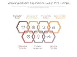 Marketing Activities Organization Design Ppt Example