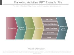 Marketing Activities Ppt Example File
