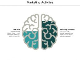 Marketing Activities Ppt Powerpoint Presentation Ideas Templates Cpb