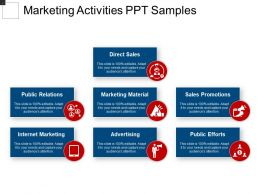 Marketing Activities Ppt Samples