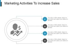 Marketing Activities To Increase Sales Presentation Diagrams
