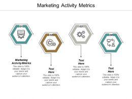 Marketing Activity Metrics Ppt Powerpoint Presentation Picture Cpb